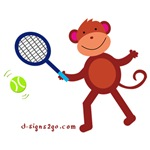 Tennis Gifts - Monkey at Tennis