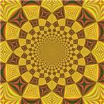 Red & Gold Dance Fractal