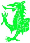 Green Tribal Dragon
