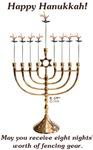 Fencing Hanukkah