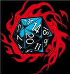 Flaming D20 Classic Black