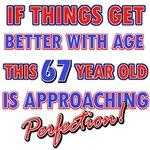 Funny 67th Birthday designs