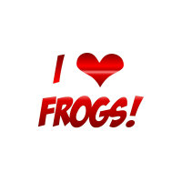 I love Frogs red