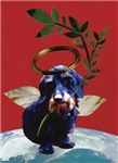Christmas Wirehaired Dachshund