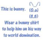 Wear a bunny shirt