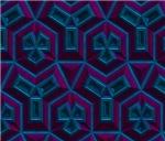 Purple and Blue Geometric Pattern