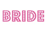 Bride - pink broadway lights