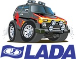 Cool Lada Niva with Lada Logo