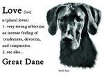 Black Great Dane (Uncropped Ears) Love Is...