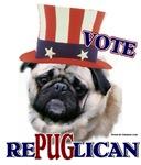 Vote RePUGlican Political Humor T-shirts