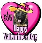 German Shepherd Valentines Day