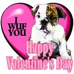 English Bulldog  Valentines Day Gifts