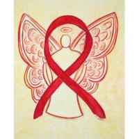 Red Awareness Ribbon Angel