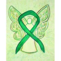 Green Awareness Ribbon Angel