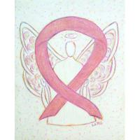 Pink Awareness Ribbon Angel