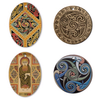 Celtic Round & Oval Ornaments