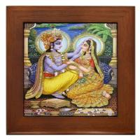 Hindu Ceramic Tile Wall Art