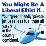 Elitist liberals flying in private jets