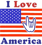 I Love America ILY Flag