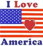 Heart America Flag