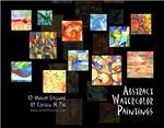 Abstract Watercolors Wall Calendar