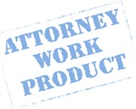 Attorney Work Product Stamp (Baby Blue)