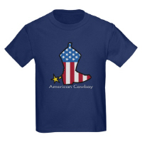 American Cowboy Patriotic Rodeo Boots USA T Shirts