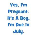 Pregnant w/ Boy due in July