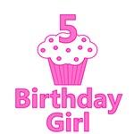 5 Cupcake Birthday Girl