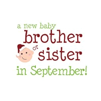 new brother or sister september
