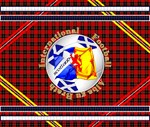 Scotland red tartan football