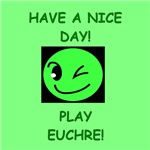 a funny euchre joke on gifts and t-shirts.