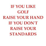 a funny golfer joke on gifts and t-shirts.