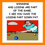 funny billiards joke on gifts and t-shirts.