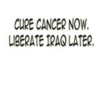 Cure Cancer Now. Liberate Iraq Later.