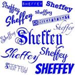 Royal Blue Sheffey Fonts - 9576