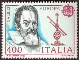 Galileo 1984 Italian Stamp Art Astronomy Gifts