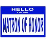 Matron of Honor Nametag (blue)