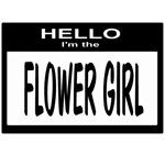Flower Girl Nametag (black)