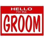Groom Nametag (red)