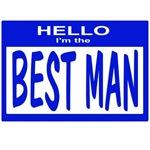 Best Man Nametag (blue)