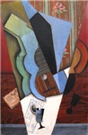 Juan Gris Abstraction (Guitar and Glass)