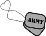 Army Heart Dog Tag