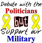 Debate with Politicians Support our Military