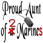 Proud Aunt of 2 Marines with dog tags