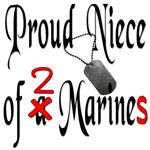 Proud Niece of 2 Marines with dog tags