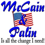 McCain and Palin all the change I need