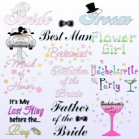 Bride and Groom and Bridal Party T-Shirts Apparel