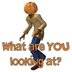 Halloween Pumpkinhead What are You Looking at?
