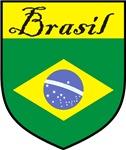 Brasil Flag Shield Crest